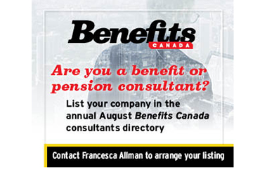 List your company in the annual August Benefits Canada consultants directory