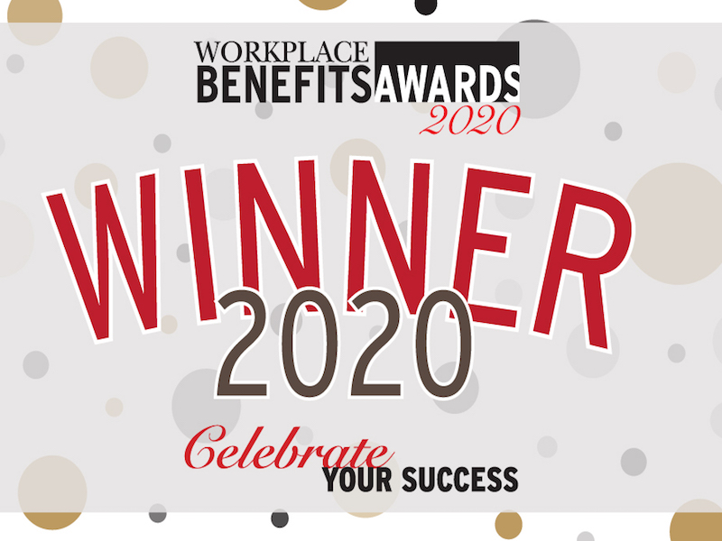 Who are the winners of the 2020 Workplace Benefits Awards?